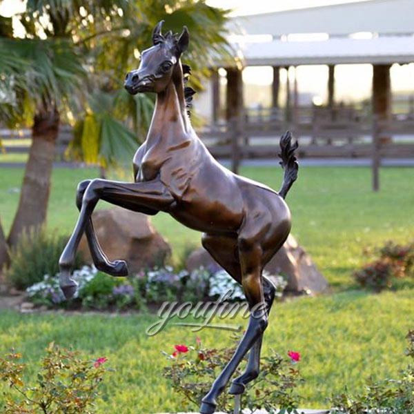 2017 Popular Design Antique Jumping Bronze Horse roaring statues with great price