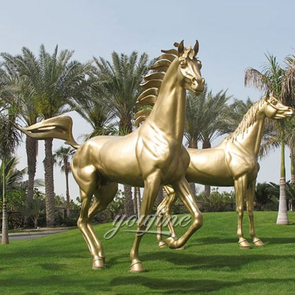 2017 hot sale home decor metal bronze race horse