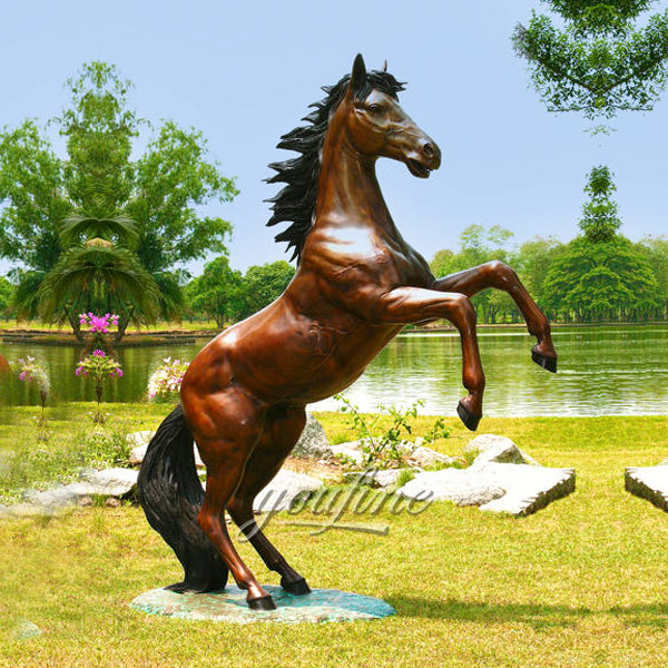 Artists New Designs Bronze Horse Statue jumping Garden Decoration For Sale