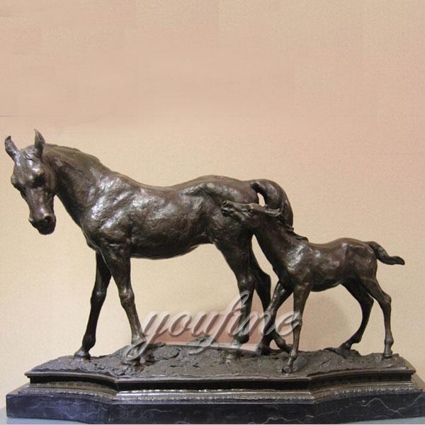 Bronze Home Decor Life Size Horse Sculpture For