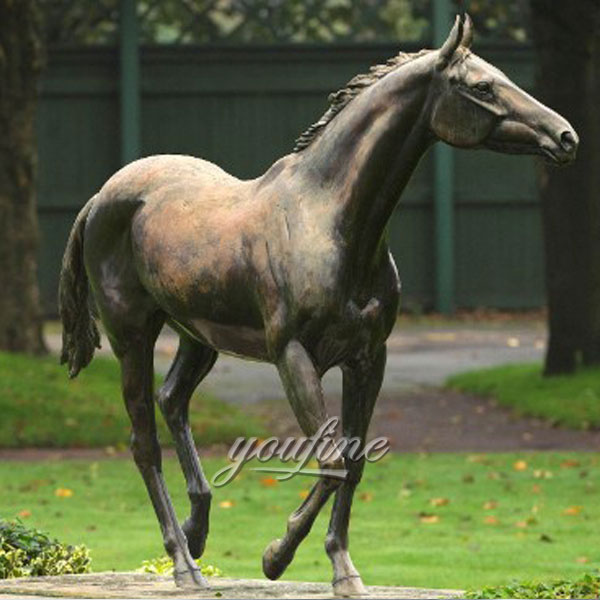 China supplier life size bronze horse race for sale