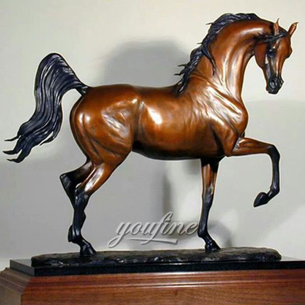 China suppliers standing metal bronze horse figurines for sale