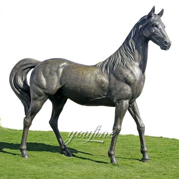 Factory Supply metal craft bronze horse standing statues for sale