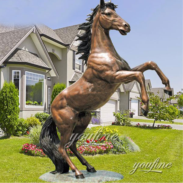 Famous Bronze Roaring Horse Statue Art Replication Paris Horse Sculptures for outdoor