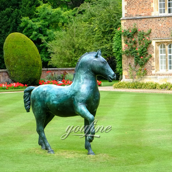 Garden Decoration Metal Craft Life Size Antique Bronze Horse Statues for sale