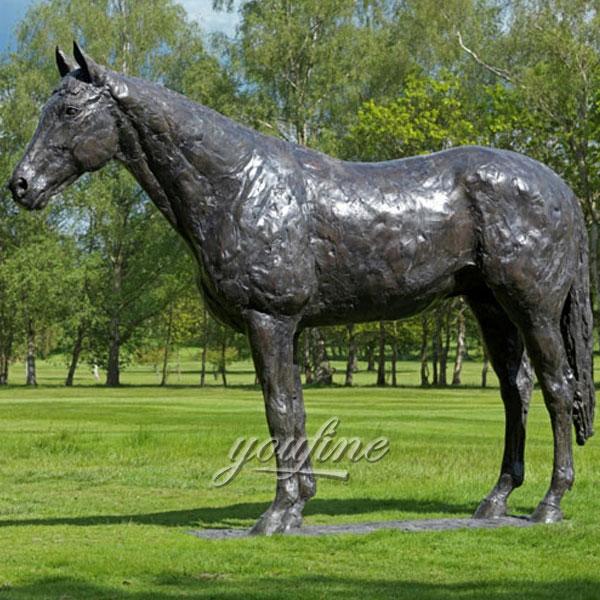 High quality outdoor garden large size antique bronze horse standing sculptures