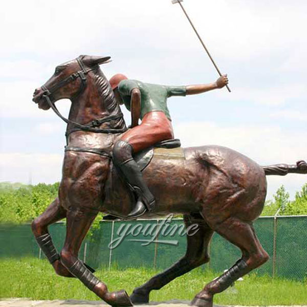 High quality veronese bronze horse and jockey sculptures for sale