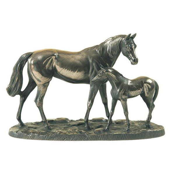 Hot-sale-Decorative-Bronze-Horse-and-Mare