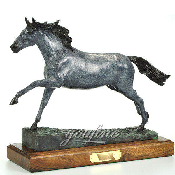 Hot sale production life size bronze horse figurine sculpture