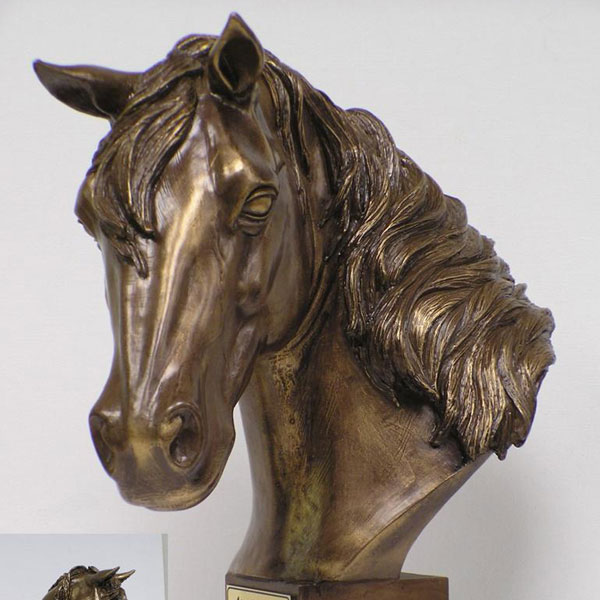 Life-Size-Cast-Metal-Bronze-Horse-Head