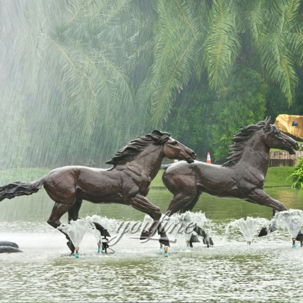 Outdoor bronze horse sculptures dallas for garden deccor