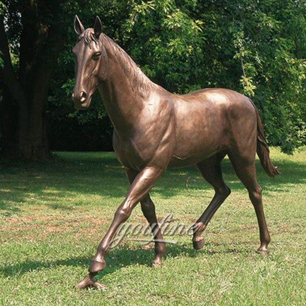 Standing bronze horse sculptures home decor