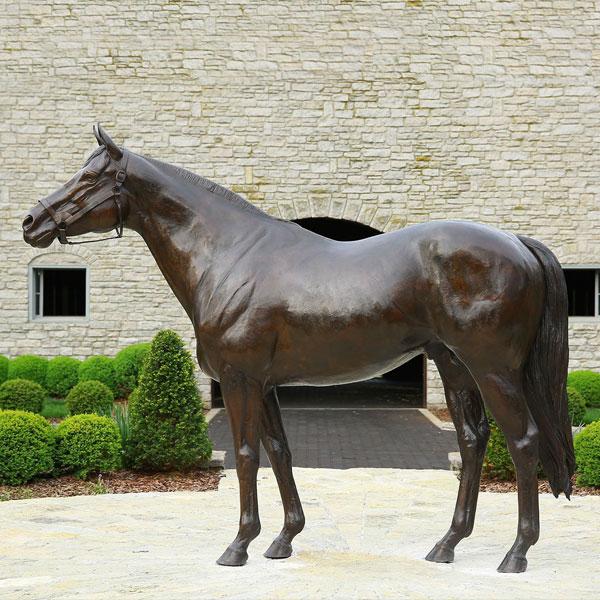 large outdoor copper sculptures metal bronze horse statues for sale