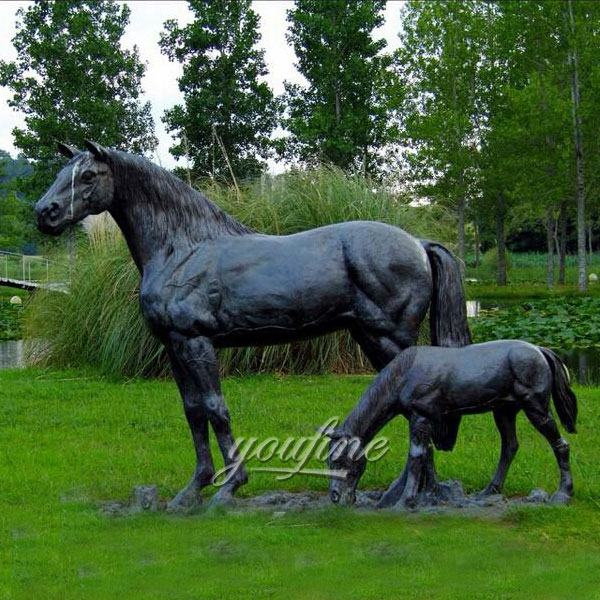 Standing Horse-life Size Horse Sculptures/statues For Sale