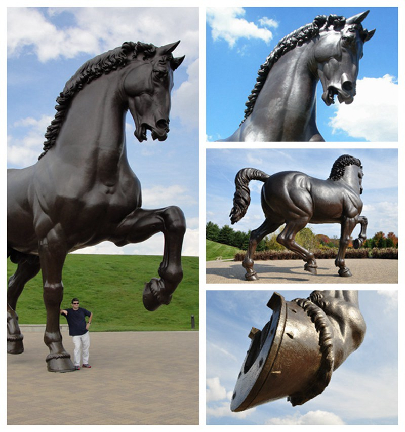 Huge Bronze Horse Sculpture