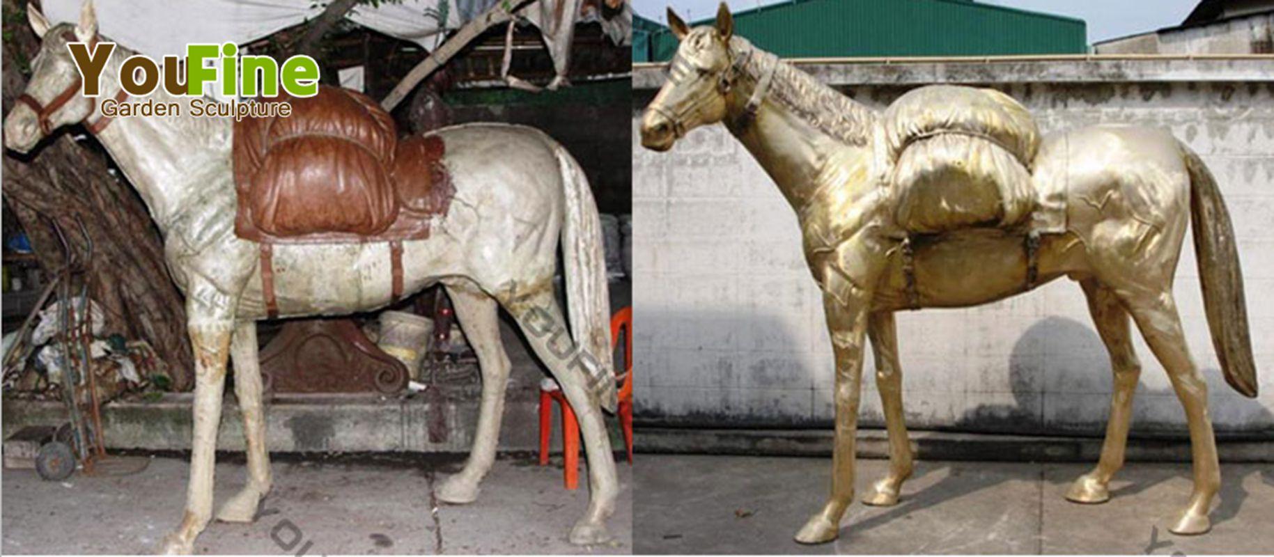 standing bronze horse sculpture