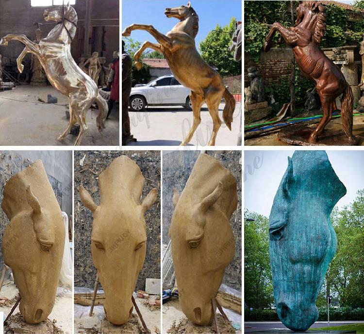 Custom High Quality Bronze Horse Head Sculpture